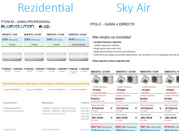 Design nou rezidential Sky Air Daikin bueno Tech