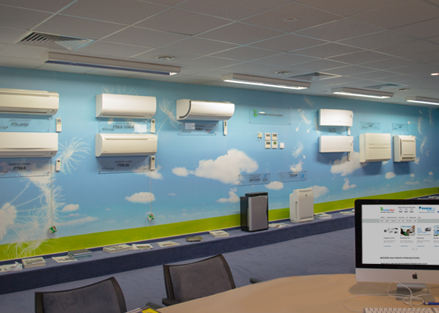 Showroom Daikin Interior